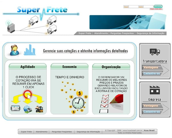 Imagem da tela home - Criada para desktop